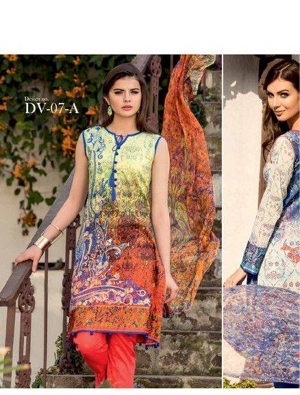 Five Star Textile Mills Latest Summer Collection Digital Printed Lawn Embroidered Dresses 2015  (30)