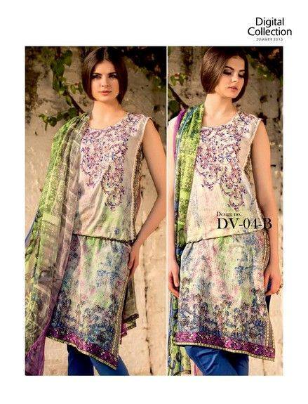 Five Star Textile Mills Latest Summer Collection Digital Printed Lawn Embroidered Dresses 2015  (31)