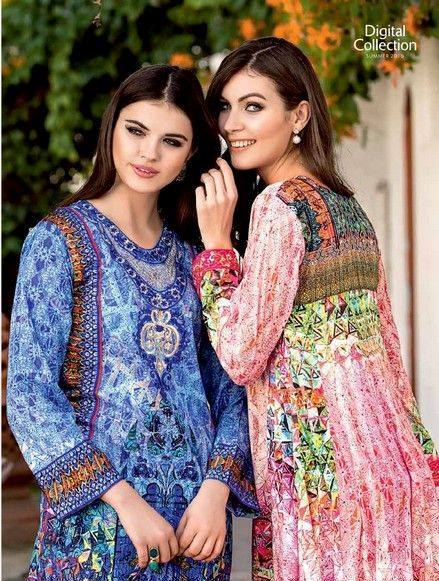 Five Star Textile Mills Latest Summer Collection Digital Printed Lawn Embroidered Dresses 2015 (32)