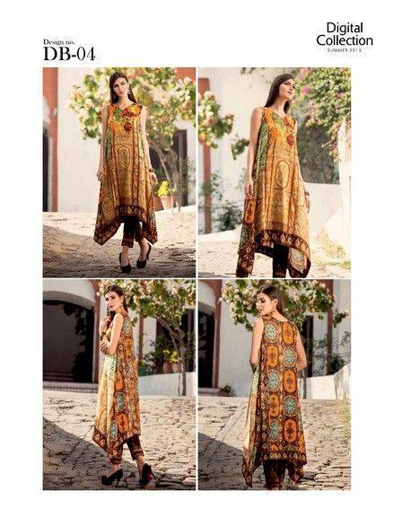 Five Star Textile Mills Latest Summer Collection Digital Printed Lawn Embroidered Dresses 2015  (33)