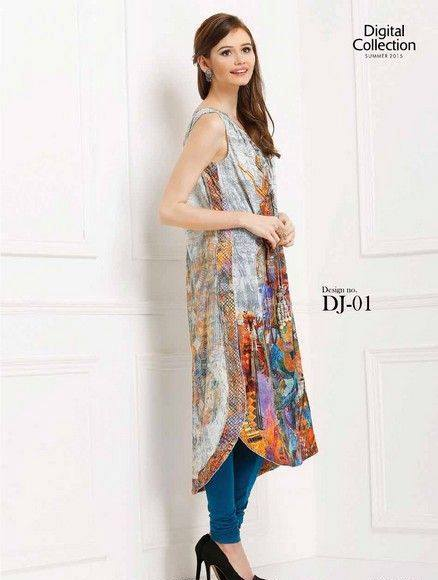 Five Star Textile Mills Latest Summer Collection Digital Printed Lawn Embroidered Dresses 2015  (34)
