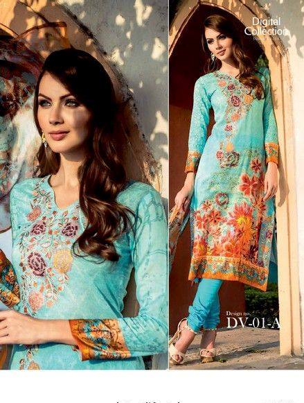 Five Star Textile Mills Latest Summer Collection Digital Printed Lawn Embroidered Dresses 2015 (7)