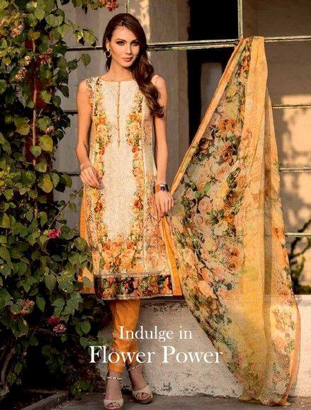 Five Star Textile Mills Latest Summer Collection Digital Printed Lawn Embroidered Dresses 2015  (9)