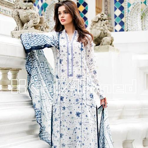 Gul Ahmed Latest Spring Summer Dresses Collection for Women 2015 (3)