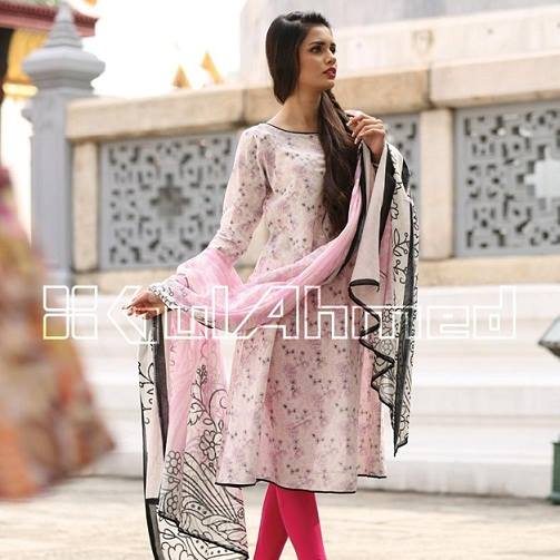 Gul Ahmed Latest Spring Summer Dresses Collection for Women 2015 (4)