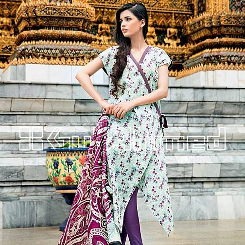 Gul Ahmed Latest Spring Summer Dresses Collection for Women 2015 (5)
