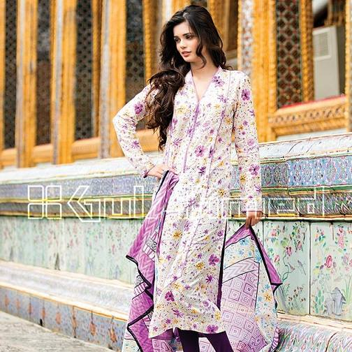 Gul Ahmed Latest Spring Summer Dresses Collection  for Women 2015 (6)