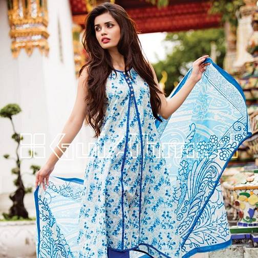 Gul Ahmed Latest Spring Summer Dresses Collection  for Women 2015 (7)