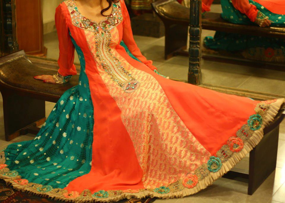 Latest Asian Fashion Airline Frock Designs Collection for Pakistani Girls 2015-2016 (54)