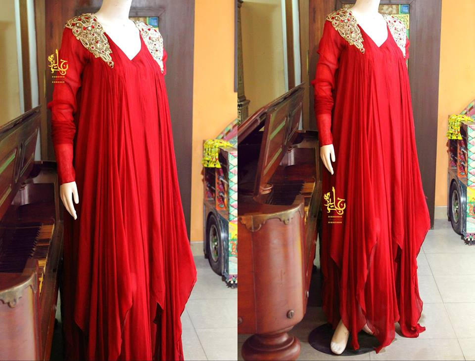 Latest Asian Fashion Airline Frock Designs Collection for Pakistani Girls 2015-2016 (62)