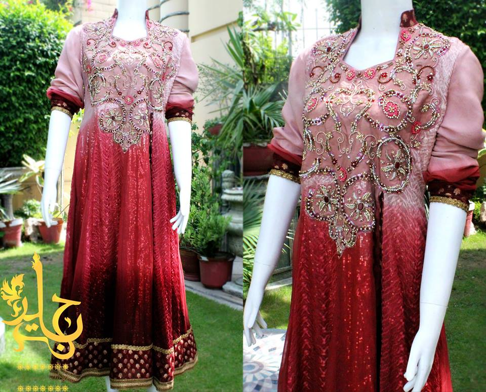 Latest Asian Fashion Airline Frock Designs Collection for Pakistani Girls 2015-2016 (65)