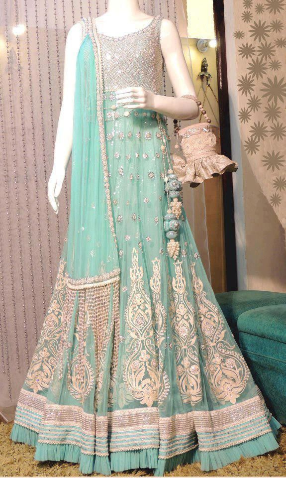 Latest Asian Fashion Engagement Dresses Designs Collection for Wedding Brides 2015-2016 (11)