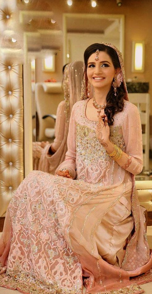 Latest Asian Fashion Engagement Dresses Designs Collection for Wedding Brides 2015-2016 (9)