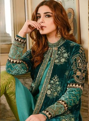 Maria B Embroidered Formal Winter Dresses Collection 2017-2018