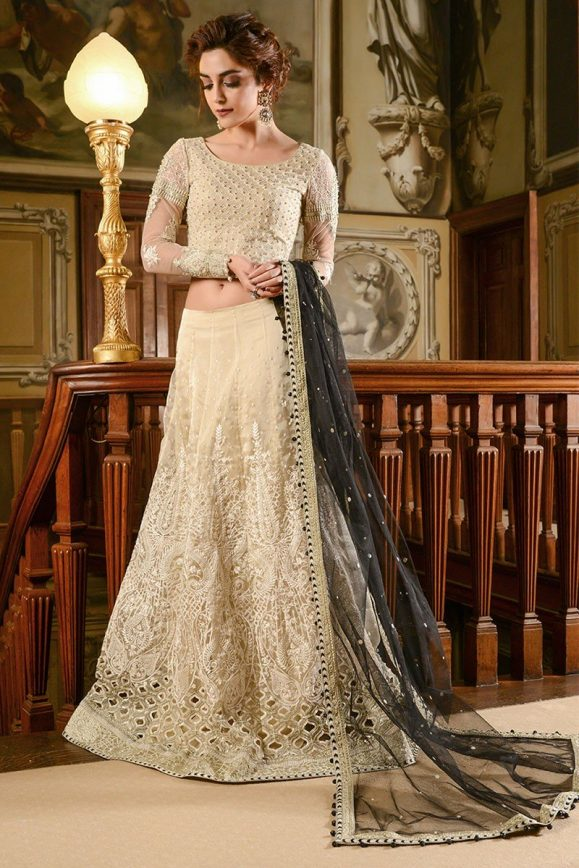 maria b embroidered formal winter dresses collection 20182019