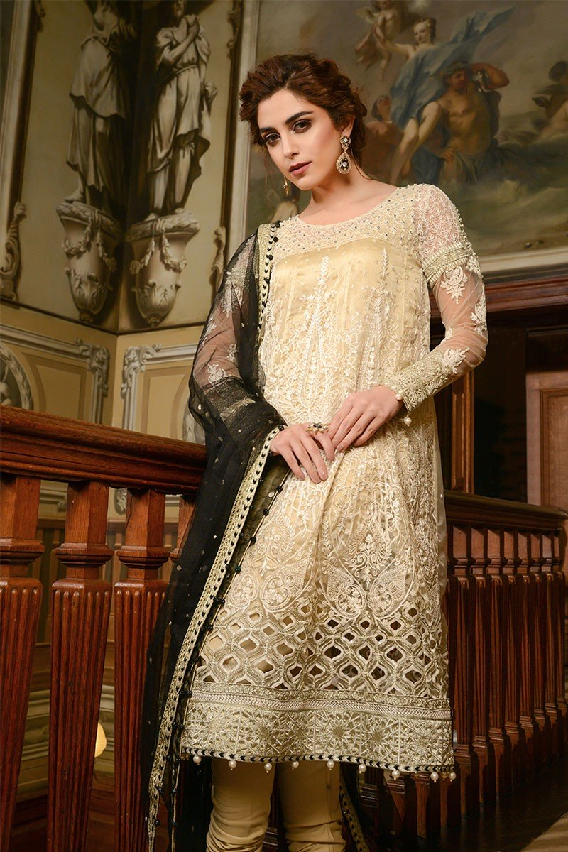 Maria B Embroidered Formal Winter Dresses Collection 2018 2019