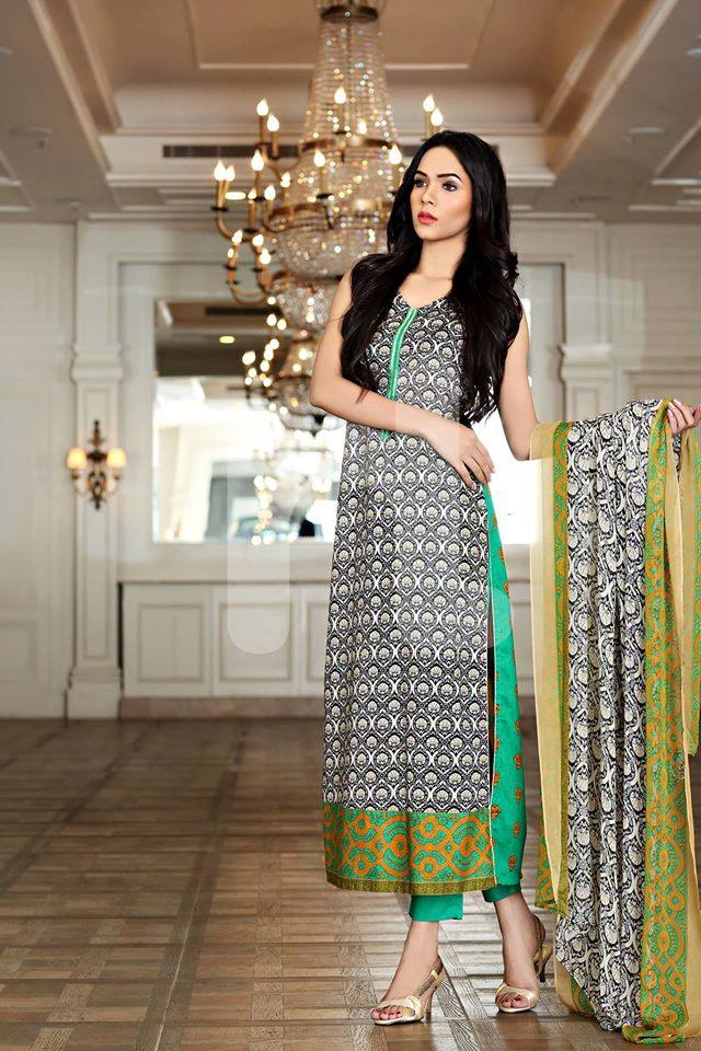 Nishat Linen Latest Spring Summer Dresses Collection for Women 2015 (14)