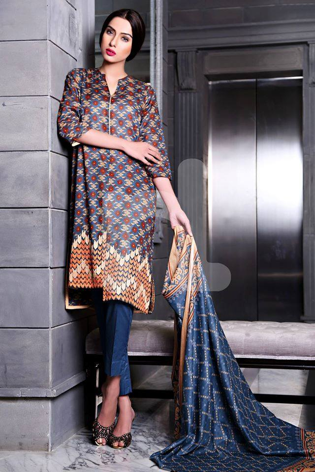 Nishat Linen Latest Spring Summer Dresses Collection for Women 2015 (4)