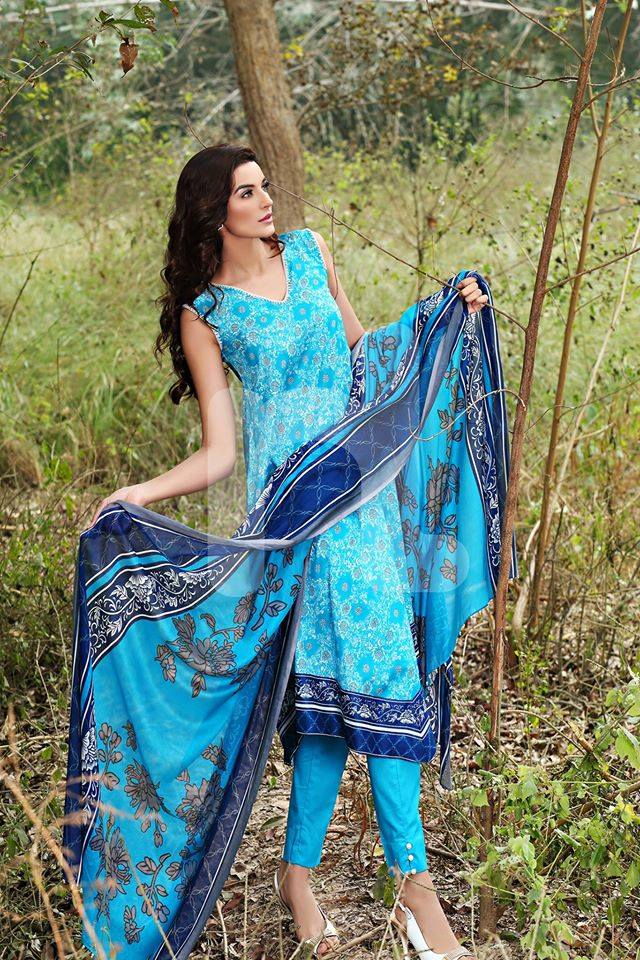 Nishat Linen Latest Spring Summer Dresses Collection for Women 2015 (9)