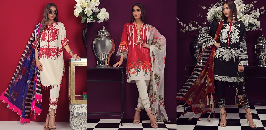 Sana Safinaz Muzlin Collection 2019-2020 Summer Lawn Suits