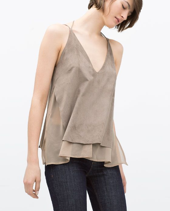 ZARA Spring-Summer Collection 2015 Latest Women Dresses, Tops, T Shirts, Skirts & Accessories (1)