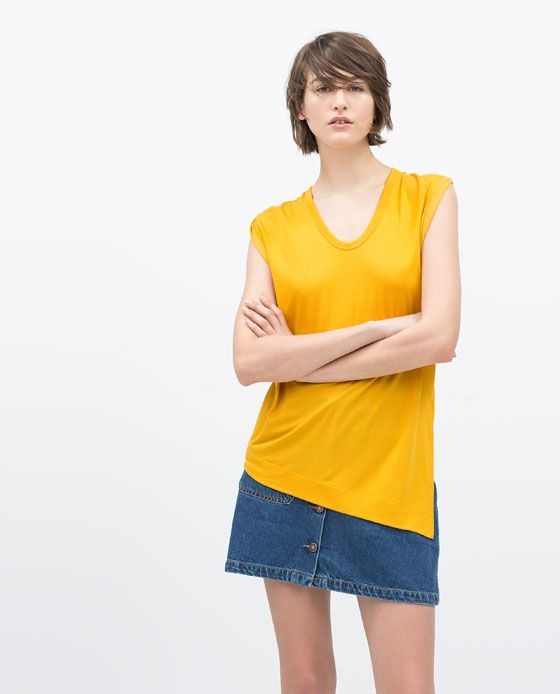 ZARA Spring-Summer Collection 2015 Latest Women Dresses, Tops, T Shirts, Skirts & Accessories (16)