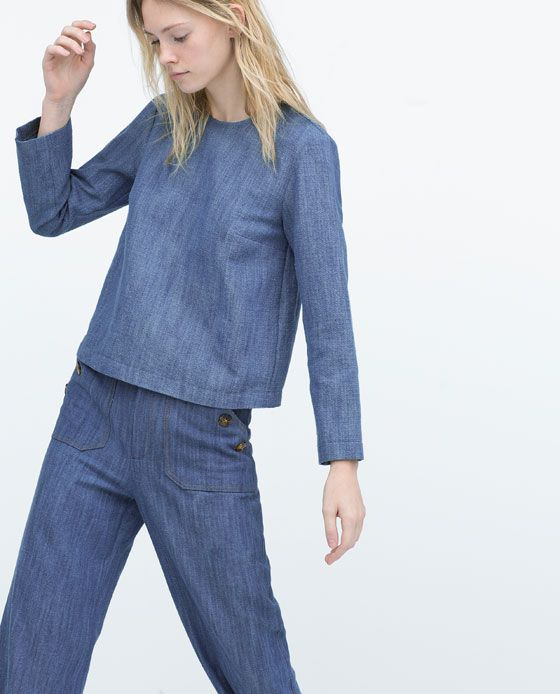 ZARA Spring-Summer Collection 2015 Latest Women Dresses, Tops, T Shirts, Skirts & Accessories (20)