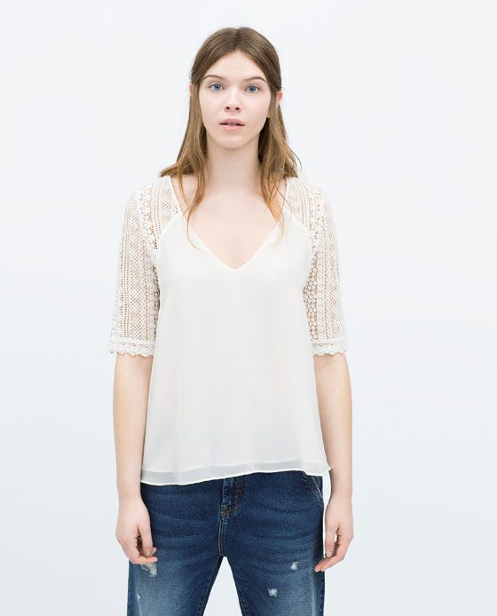 ZARA Spring-Summer Collection 2015 Latest Women Dresses, Tops, T Shirts, Skirts & Accessories (5)