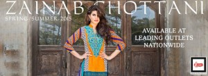 Zainab Chottani Spring Summer Lawn Dresses Collection 2015 By LSM Fabrics