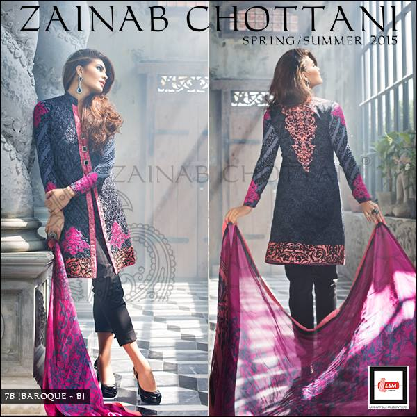 Zainab Chottani Spring Summer Lawn Dresses Collection 2015 by LSM (10)