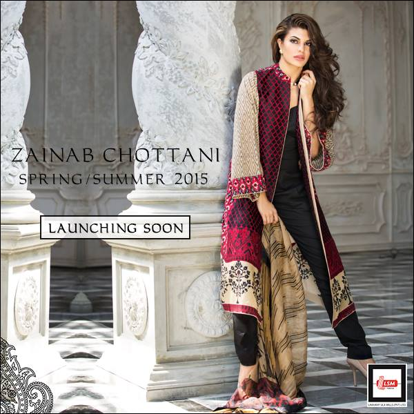Zainab Chottani Spring Summer Lawn Dresses Collection 2015 by LSM (11)