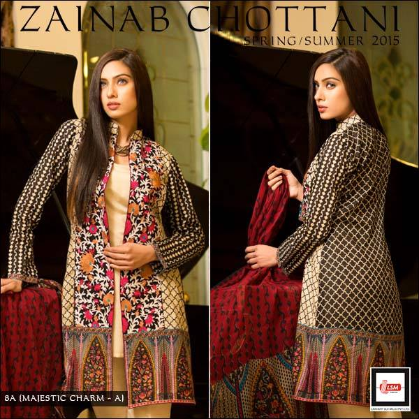 Zainab Chottani Spring Summer Lawn Dresses Collection 2015 by LSM (13)
