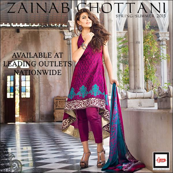 Zainab Chottani Spring Summer Lawn Dresses Collection 2015 by LSM (15)