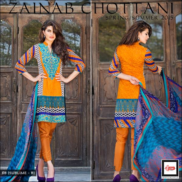Zainab Chottani Spring Summer Lawn Dresses Collection 2015 by LSM (22)