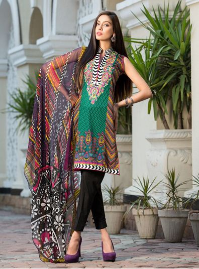 Zainab Chottani Spring Summer Lawn Dresses Collection 2015 by LSM (28)