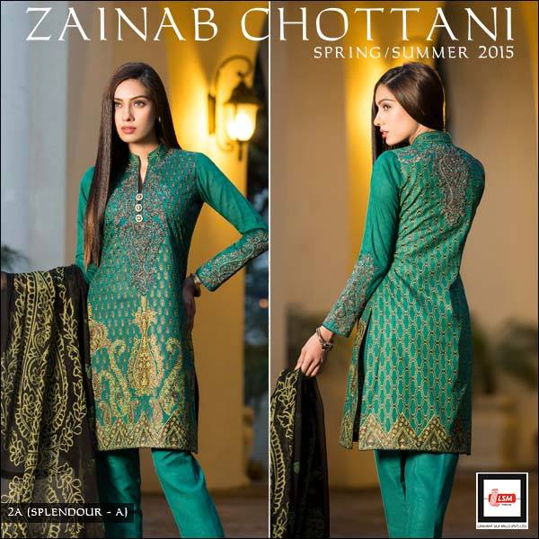 Zainab Chottani Spring Summer Lawn Dresses Collection 2015 by LSM (5)