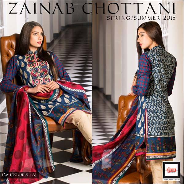 Zainab Chottani Spring Summer Lawn Dresses Collection 2015 by LSM (6)