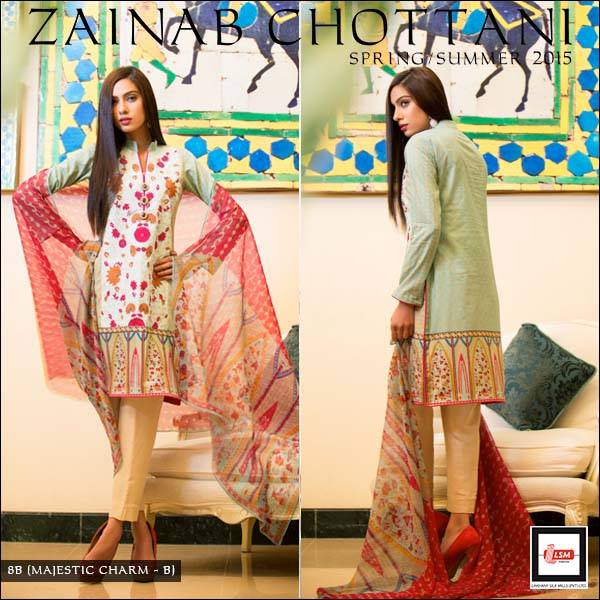 Zainab Chottani Spring Summer Lawn Dresses Collection 2015 by LSM (9)