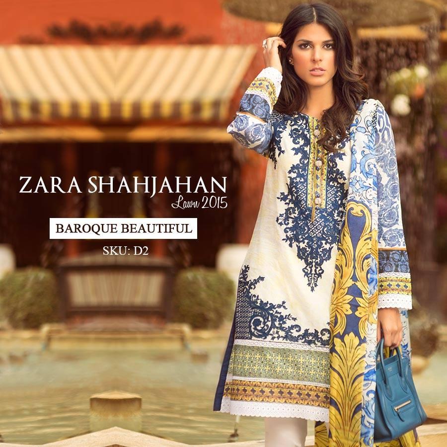 d5d4096e Zara Shahjahan Summer Lawn Dresses Collection 2015 for Women (24 ...