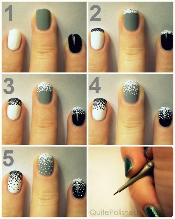 Pictures Of How To Do Nail Art At Home Step By Step Kidskunstfo