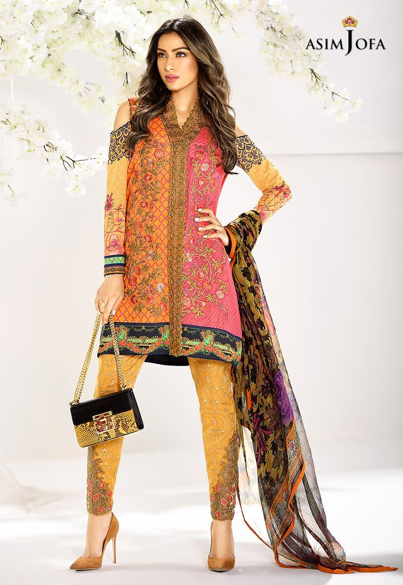 Asim Jofa Digital Lawn Summer Dresses Collection 2017-2018 for Women (23)