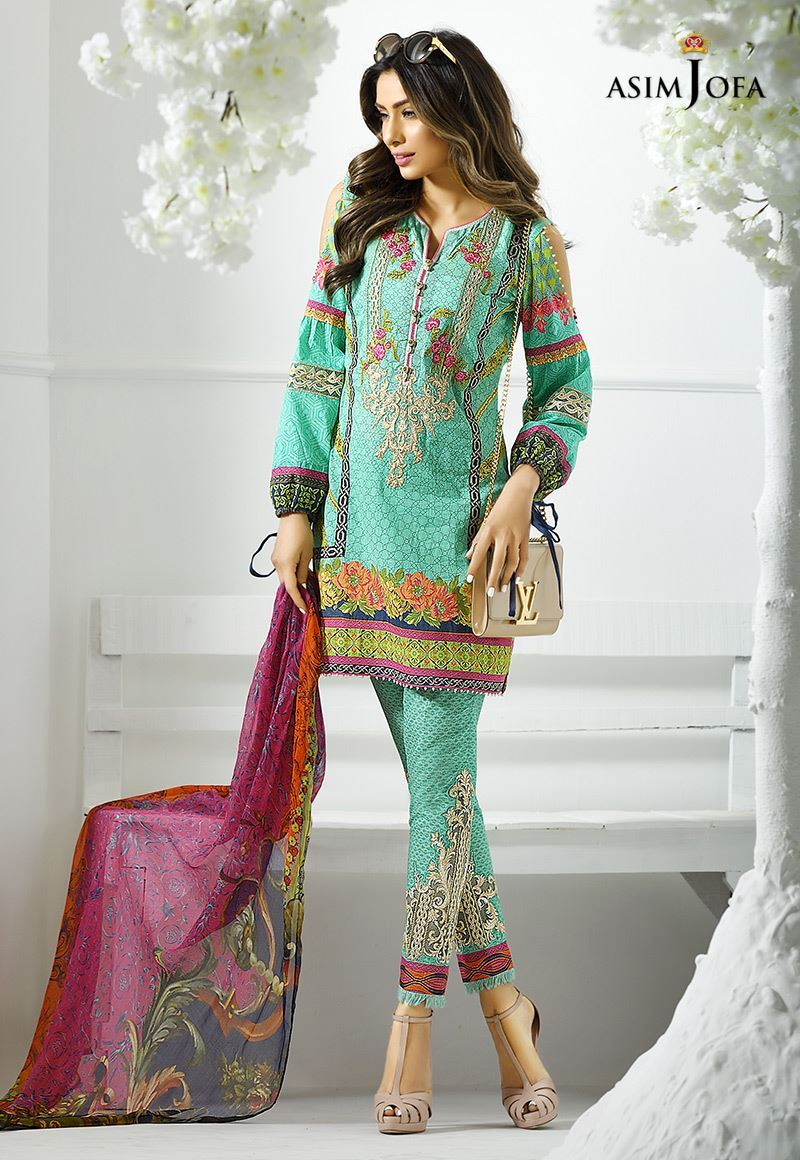 new high quality nice cheap low cost Asim Jofa Digital Lawn Summer Dresses Collection 2017-2018 for ...