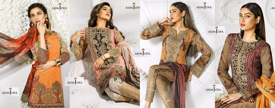 Asim Jofa Digital Lawn Summer Dresses Collection 2017-2018 for Women