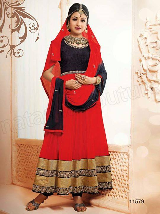 Indian Party Wears Dress Designs Collection 2015-2016 Natasha Couture (10)