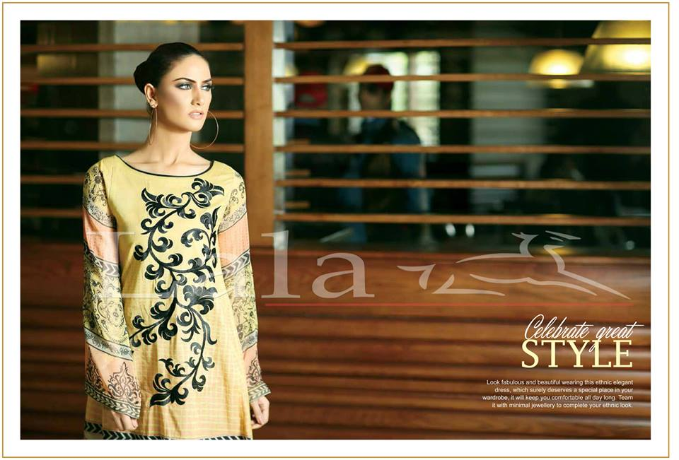 La Femme Kurtis By Lala Textiles Spring Summer Dresses Collection 2015-2016 (11)