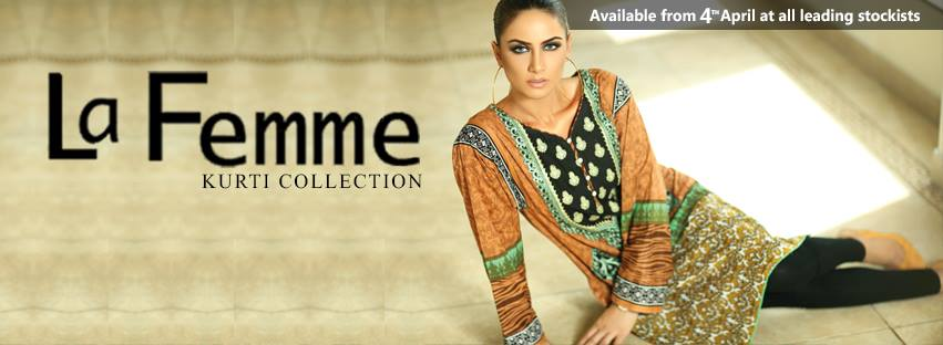La Femme Kurtis By Lala Textiles Spring Summer Dresses Collection 2015-2016 (2)