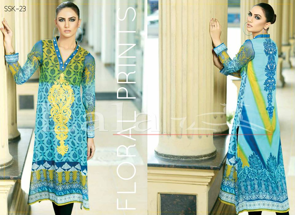 La Femme Kurtis By Lala Textiles Spring Summer Dresses Collection 2015-2016 (5)