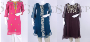 Latest Embroidered Kurtis Designs 2016-2017 by SHEEP