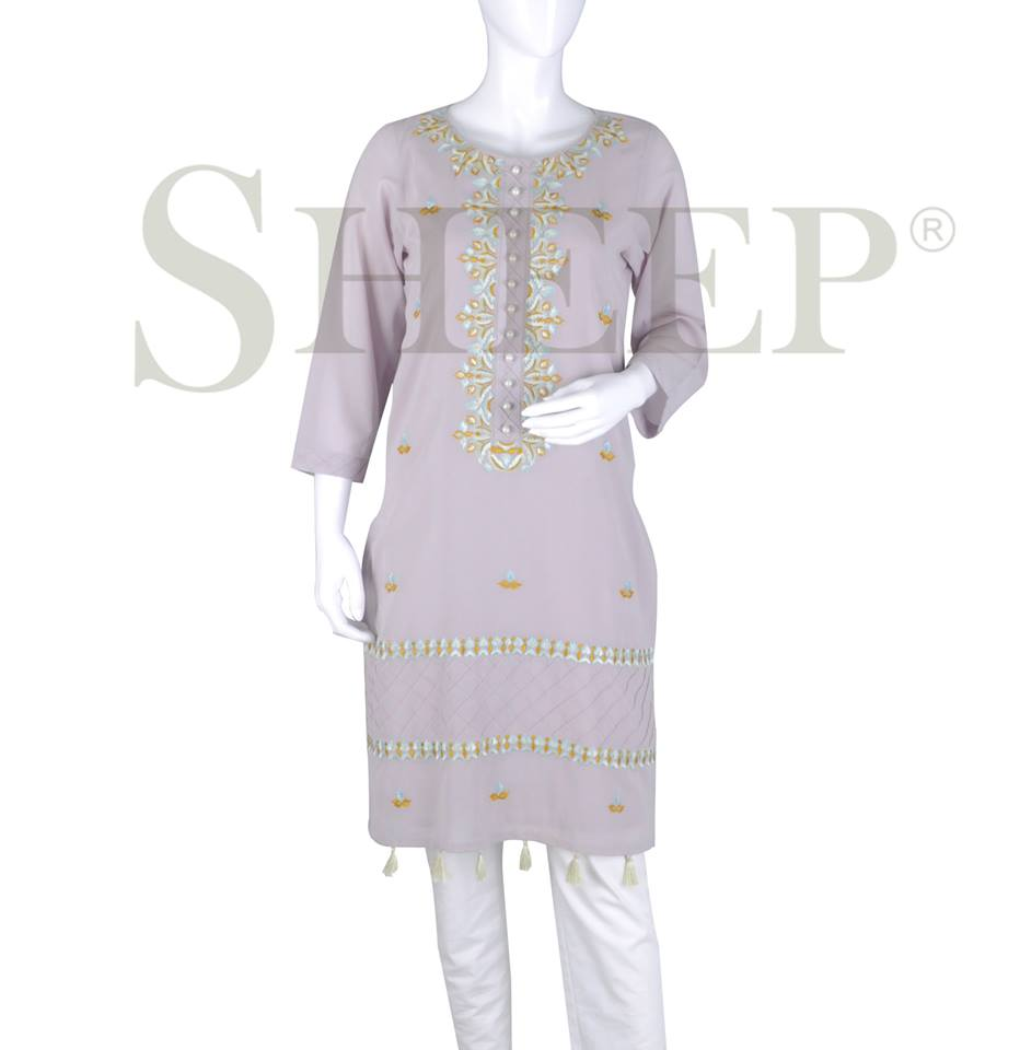 Latest Designs of Casual Formal Kurtis Fancy Embroidered Collection by SHEEP 2015-2016 (15)