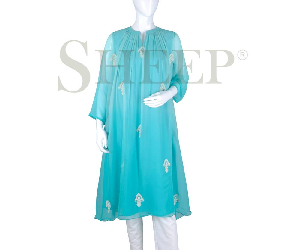 Latest Designs of Casual Formal Kurtis Fancy Embroidered Collection by SHEEP 2015-2016 (21)